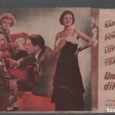 Cine: UNA MUJER DIFAMADA / PROGRAMA DOBLE DE MGM CON PUBLICIDAD RF-1590 , BUEN ESTADO. Lote 132638258