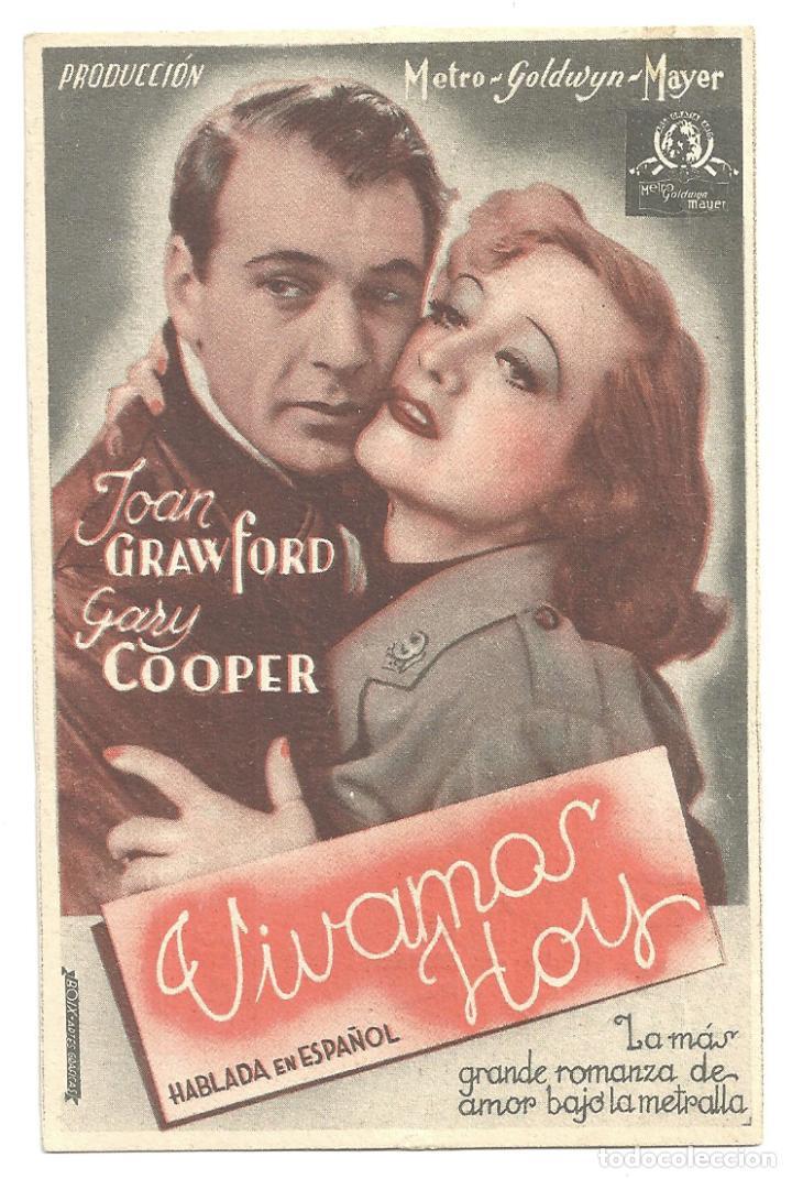 PTEB 009 VIVAMOS HOY PROGRAMA TARJETA MGM JOAN CRAWFORD GARY COOPER (Cine - Folletos de Mano - Drama)