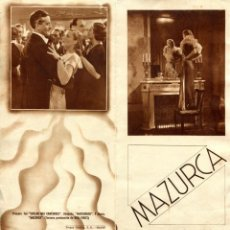 Cine: MAZURCA, CON POLA NEGRI.. Lote 132660666