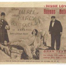 Cine: PTEB 010 POLITIQUERIAS PROGRAMA DOBLE CONCURSO MGM STAN LAUREL Y OLIVER HARDY. Lote 132678490