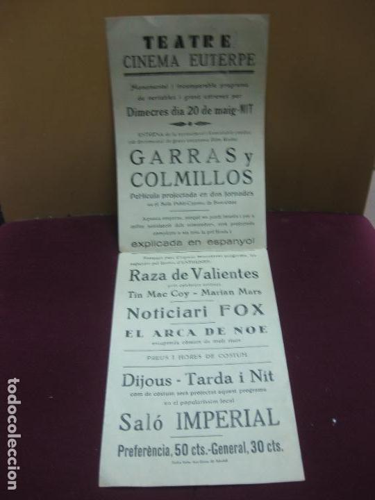 Cine: GARRAS Y COLMILLOS.FRANK BUCK. FILM RADIO.TEATRE CINEMA EUTERPE. - Foto 2 - 132722734