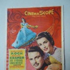 Cine: PROGRAMA. VALS REAL, MARIANNE KOCH. CON PUBLICIDAD, CAYRI CINEMA. MÁLAGA.. Lote 132847110