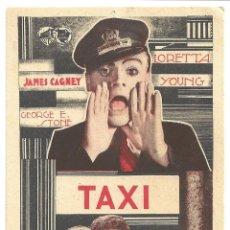 Cine: PTEB 011 TAXI PROGRAMA TARJETA WARNER JAMES CAGNEY LORETTA YOUNG GEORGE RAFT. Lote 132881782