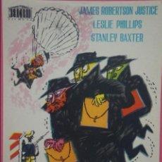 Foglietti di film di film antichi di cinema: FOLLETO DE MANO PROGRAMA DE CINE HOY ES DIA DE FUGA SIN PUBLICIDAD LOTE 15. Lote 132883258