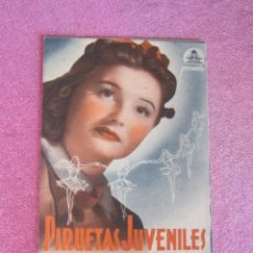 Cine: PIRUETAS JUVENILES CIFESA ROBERTO REY FLORIDA PROGRAMA DE CINE DOBLE RESERVADO.. Lote 132891146