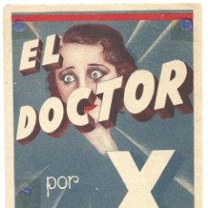 Cine: PTEB 011 EL DOCTOR X PROGRAMA TARJETA WARNER LIONEL ATWILL FAY WRAY LEE TRACY. Lote 132892366