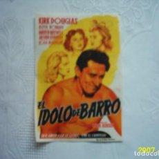 Cine: EL ÍDOLO DE BARRO. KIRK DOUGLAS. 1955. CINE MADRID, DE REINOSA, CANTABRIA. ILUSTRADO POR SOLIGÓ.. Lote 132914458