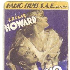 Cine: PTEB 013 CAUTIVO DEL DESEO PROGRAMA TARJETA RKO BETTE DAVIS LESLIE HOWARD. Lote 132960166