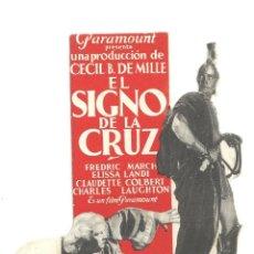 Cine: PTEB 013 EL SIGNO DE LA CRUZ PROGRAMA TROQUELADO PARAMOUNT DEMILLE ELISSA LANDI CLAUDETTE COLBERT. Lote 132960630
