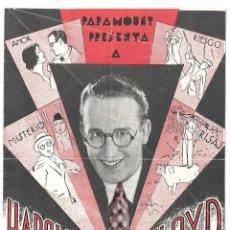 Cine: PTEB 019 QUE FENOMENO PROGRAMA DOBLE PARAMOUNT HAROLD LLOYD BARBARA KENT. Lote 133015550