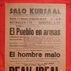 Cine: BEAU IDEAL, EL HOMBRE MALO, LOCAL, LORETA YOUNG, SALO KURSAAL REUS 1936. Lote 133022602