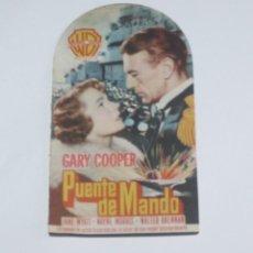 Cine: PROGRAMA DE MANO - PUENTE DE MANDO - IMPERIAL CINEMA - VILLAVICIOSA - 1951. Lote 133052466