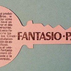 Cine: CRIMEN PERFECTO. PROGRAMA DE MANO TROQUELADO. CINES FANTASIO - PARÍS. BARCELONA. Lote 133118190