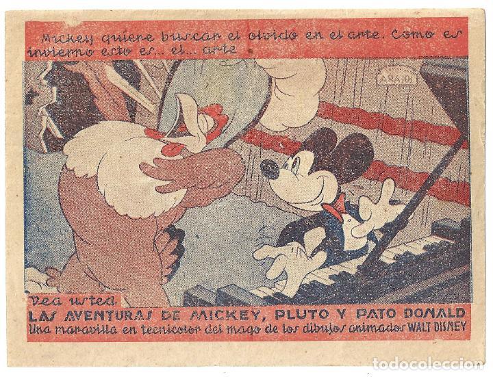 PTCC 015 LAS AVENTURAS DE MICKEY PLUTO Y PATO DONALD PROGRAMA SENCILLO ARAJOL WALT DISNEY A2 (Cine - Folletos de Mano - Infantil)