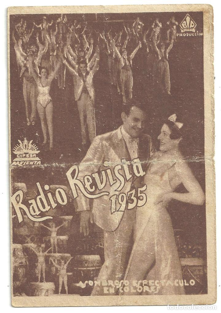 PTCC 016 RADIO REVISTA 1935 PROGRAMA DOBLE CIFESA PERIS ARAGO (Cine - Folletos de Mano - Musicales)