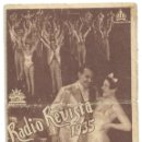 Cine: PTCC 016 RADIO REVISTA 1935 PROGRAMA DOBLE CIFESA PERIS ARAGO. Lote 133154690