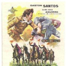 Cine: PTCC 019 LOS DIABLOS DEL TERROR PROGRAMA SENCILLO LATINA FILMS GASTON SANTOS ALMA ROSA. Lote 133197118