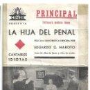 Cine: PTCC 017 LA HIJA DEL PENAL PROGRAMA DOBLE CANCIONERO CIFESA CINE ESPAÑOL ANTONIO VICO EDUARDO MAROTO. Lote 133214394