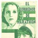 Cine: PTCC 017 EL CORREDOR DE MARATHON PROGRAMA DOBLE RIESGO FILM BRIGITTE HELM VICTOR DE KOWA MARATON. Lote 133220586