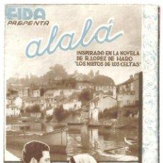 Cine: PTCC 018 ALALA EL HIJO DEL MISTERIO PROGRAMA DOBLE SUPER FILM AZUL CINE ESPAÑOL ANTOÑITA COLOME. Lote 133225962