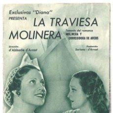 Cine: PTCC 018 LA TRAVIESA MOLINERA PROGRAMA DOBLE DIANA CINE ESPAÑOL MANUEL ARBO HILDA MORENO ROMEA. Lote 133228642