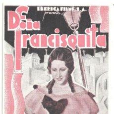 Cine: PTCC 018 DOÑA FRANCISQUITA PROGRAMA DOBLE IBERICA FILMS CINE ESPAÑOL RAQUEL RODRIGO. Lote 133231522
