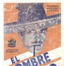 Cine: PTCC 018 EL HOMBRE MALO PROGRAMA DOBLE CINAES ANTONIO MORENO CARLOS VILLARIAS ANTONIO MORENO. Lote 133232222