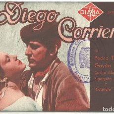 Cine: PTCC 018 DIEGO CORRIENTES PROGRAMA DOBLE DIANA CINE ESPAÑOL PEDRO TEROL GOYITA HERRERO. Lote 133233462