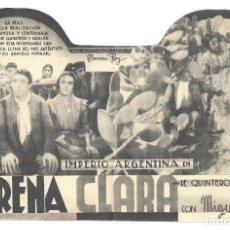 Cine: PTCC 018 MORENA CLARA PROGRAMA DOBLE TROQUELADO CIFESA CINE ESPAÑOL IMPERIO ARGENTINA A. Lote 133235426