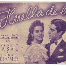 Cine: PTCC 020 HUELLA DE LUZ PROGRAMA DOBLE MORADO CIFESA CINE ESPAÑOL ANTONIO CASAL ISABEL DE POMES LILA. Lote 133236362