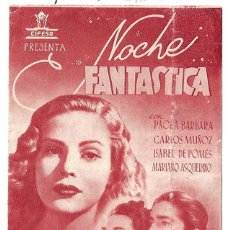 Cine: PTCC 020 NOCHE FANTASTICA PROGRAMA DOBLE ROJO CIFESA CINE ESPAÑOL PAOLA BARBARA ISABEL DE POMES. Lote 133236410