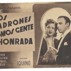 Cine: PTCC 020 LOS LADRONES SOMOS GENTE HONRADA PROGRAMA DOBLE MARRON CIFESA CINE ESPAÑOL AMPARO RIVELLES. Lote 133236738