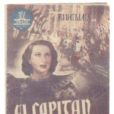 Cine: PTCC 020 EL CAPITAN TORMENTA PROGRAMA DOBLE CIFESA RAFAEL RIVELLES ADRIANO RIMOLDI EMILIO SALGARI B. Lote 133239710