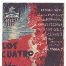 Cine: PTCC 020 LOS CUATRO ROBINSONES PROGRAMA SENCILLO CIFESA CINE ESPAÑOL ANTONIO VICO . Lote 133239890