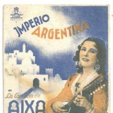 Cine: PTCC 020 LA CANCION DE AIXA PROGRAMA TARJETA CIFESA CINE ESPAÑOL IMPERIO ARGENTINA. Lote 133240006