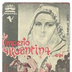Cine: PTCC 020 LA CANCION DE AIXA PROGRAMA TARJETA CIFESA CINE ESPAÑOL IMPERIO ARGENTINA. Lote 133240234