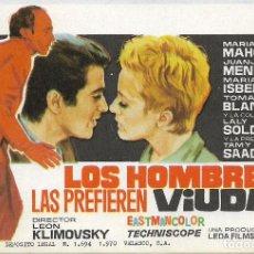 Cine: PROGRAMA DE CINE - LOS HOMBRES LAS PREFIEREN RUBIAS - MARIA MAHOR, JUANJO MENENDEZ - S/P. Lote 133247282