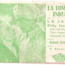 Cine: PTEB 023 LA TUMBA INDIA PROGRAMA DOBLE HISPANIA TOBIS LA JANA PHILIP DORN. Lote 133317970