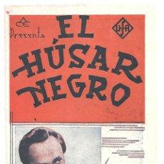 Cine: PTEB 023 EL HUSAR NEGRO PROGRAMA DOBLE ACE CONRAD VEIDT URSULA GRABLEY. Lote 133321174
