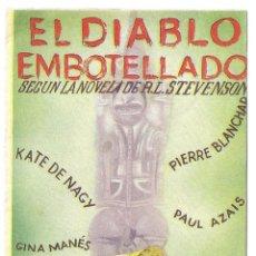 Cine: PTEB 023 EL DIABLO EMBOTELLADO PROGRAMA DOBLE UFA KATHE VON NAGY PIERRE BLANCHAR . Lote 133323106