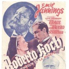 Cine: PTEB 023 ROBERTO KOCH EL VENCEDOR DE LA MUERTE PROGRAMA DOBLE HISPANIA TOBIS EMIL JANNINGS. Lote 133324390