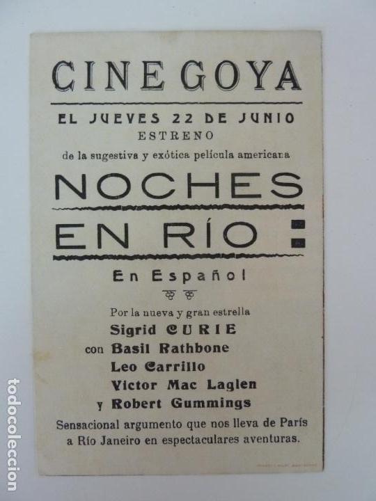 Cine: NOCHES EN RÍO. DOBLE CON PUBLICIDAD - Foto 2 - 133337518