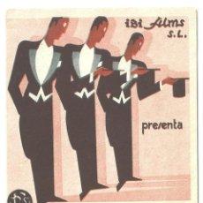 Cine: PTEB 023 TRES CABALLEROS DE FRAC PROGRAMA DOBLE IBI FILMS TITO SCHIPA PEPINO + EDUARDO DE FILIPPO. Lote 133339330