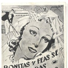 Cine: PTEB 023 BONITAS Y FEAS SE CASAN TODAS PROGRAMA DOBLE HERCULES RAZA MARIA DENIS UMBERTO MELNATI. Lote 133340906