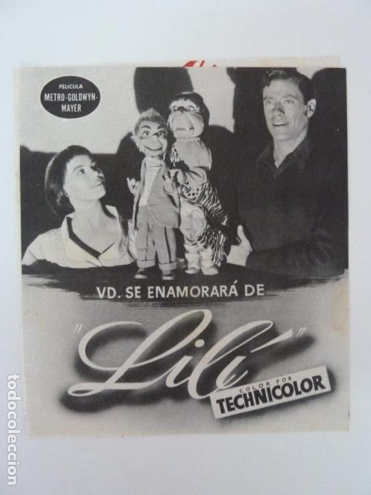 LILÍ. LESLIE CARON. DOBLE CON PUBLICIDAD (Cine - Folletos de Mano - Comedia)