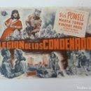 Cine: LEGIÓN DE CONDENADOS. DICK POWELL. SIN PUBLICIDAD. Lote 133571086