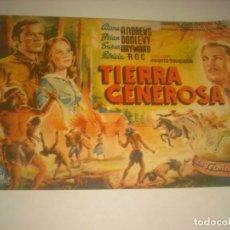 Cine: TIERRA GENEROSA, SENCILLO SIN PUBLICIDAD.. Lote 133656558
