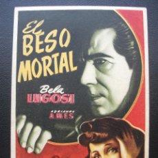 Cine: EL BESO MORTAL, BELA LUGOSI. Lote 133669022