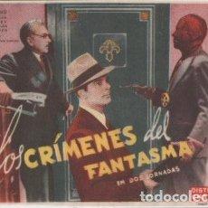 Cine: PROGRAMA DE CINE. LOS CRIMENES DEL FANTASMA SIN PUBLICIDAD. Lote 133840946