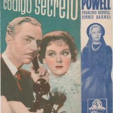 Cine: CÓDIGO SECRETO (CON PUBLICIDAD). Lote 133858886